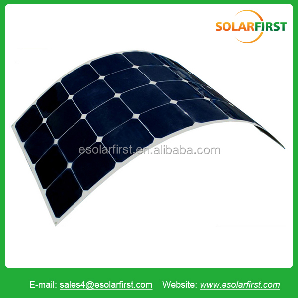 High efficiency 100W Sun power flex solar panel for RV BOAT Marine