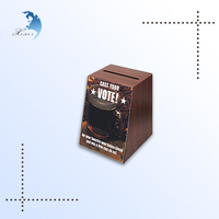 Fashion custom donation black wooden ballot box with clear lid