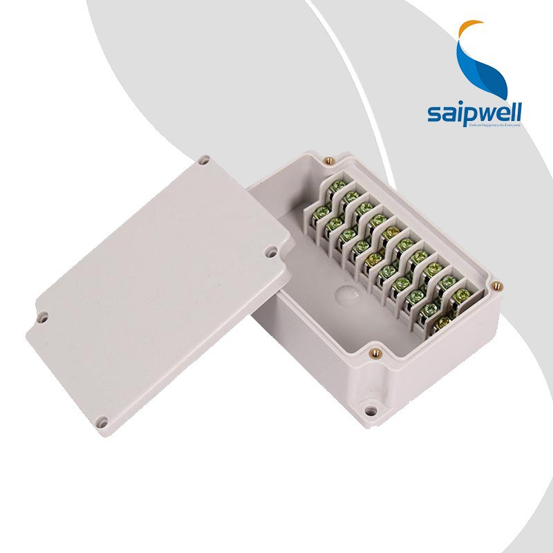 Saip Saipwell ABS High Quality 10 Ways Terminals IP66 Waterproof Electrical Terminal Box