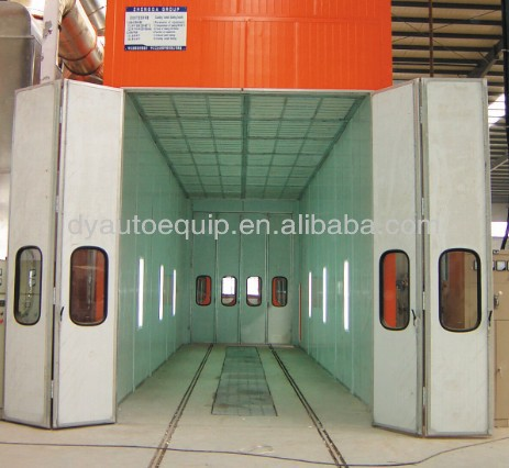 large size dry spray booth for trucks and buses