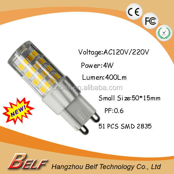High Quality G9 SMD 5030 AC / DC 12V LED Bulb g9 smd mini led bulb