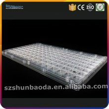 custom rectangular PET Anti-Static ESD packaging blister plastic IC/PCB tray