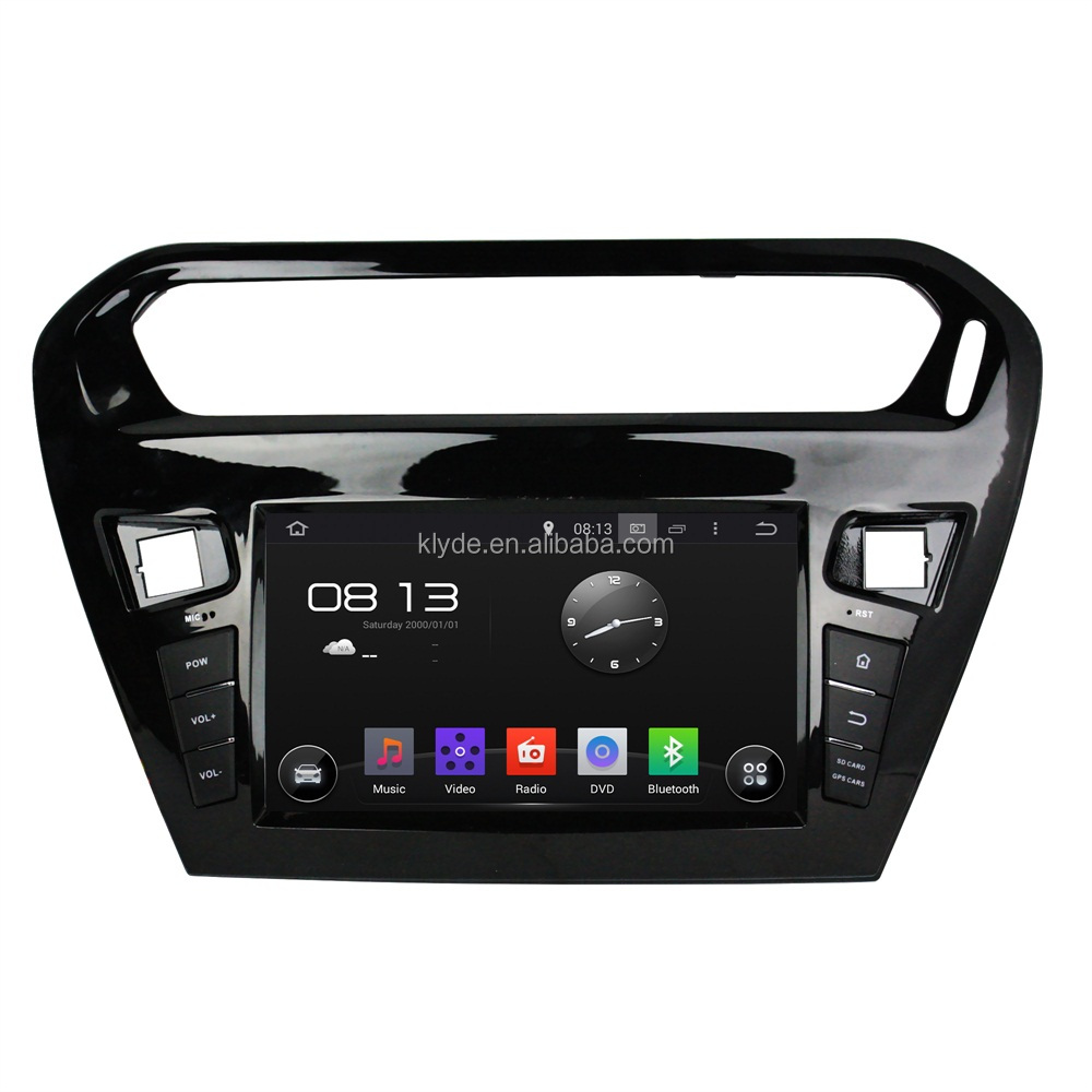 8inch Android car Multimedia DVD player with Audio, Radio, BT, IPOD, GPS, Wifi, Mirror link for Peugeot 301