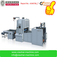 Vertical hot laminating machine price with automatic cutting machine