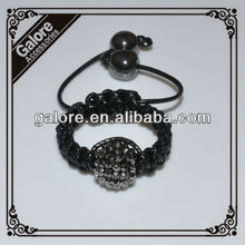 pave crystal cock ball shamballa crystal ball ring