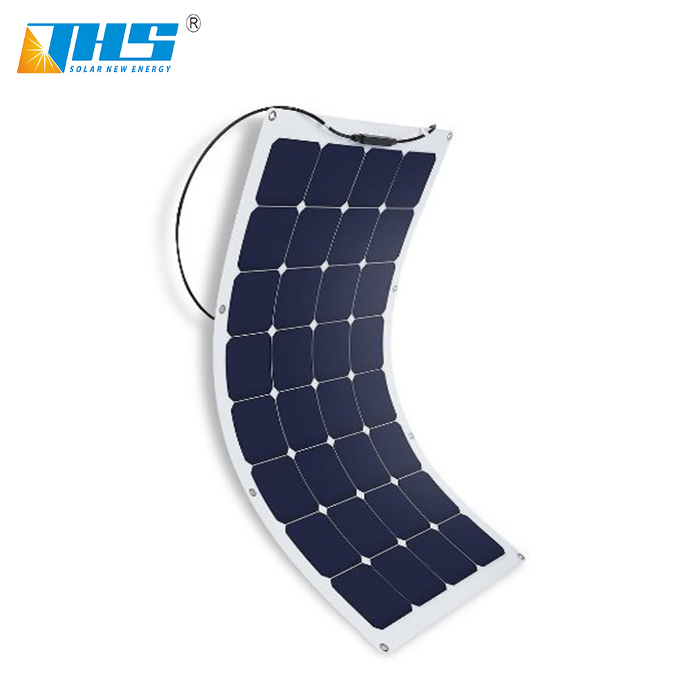 whole sale high quality sunpower cell material flexible solar panel 100w