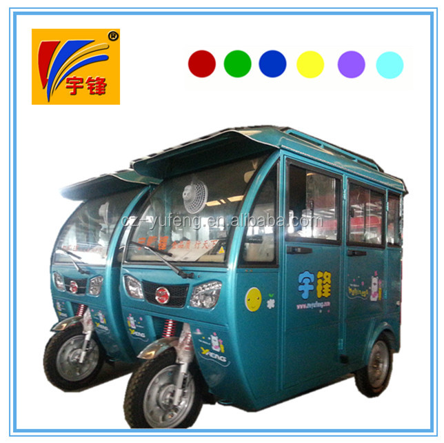 Closed body 60V 850W with cabin three wheel electric tricycle for adult
