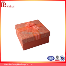 1200g Gery Cardboard Small Empty Decorative Gift Boxes with Lid