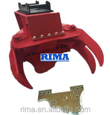 Hydraulic Timber Grapple With Sharp Saw