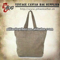 2014 New Season Design Cheap Canvas Tote Bag/ Vintage Cotton Fabric Hangbag Shopping Bag Wholesale Guangzhou