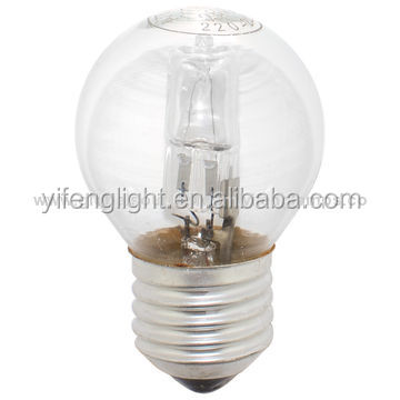230V 50W 2800K 2000Hours Glass A55 A60 110V 120V Halogen bulbs Edison Screw E27 Base Replacement 100W Halogen bulbs
