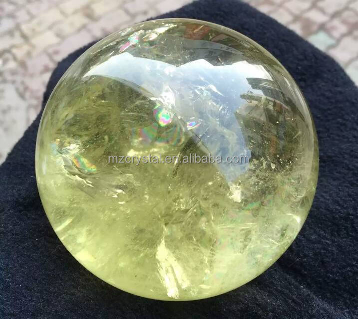 Healing nature stone crystal quartz citrine sphere ball for sale