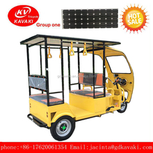 CCC Certificate With Solar Panel Open Body Type Adult Electric Passenger Tricycle And tuk tuk Taxi For Sale