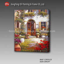 Garden landscape Oil Painting,Garden Scene on canvans
