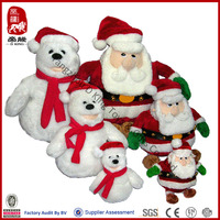 OEM china soft snowman toy santa claus stuffed toy christmas plush toy