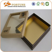 Alibaba Manufacturer Luxury Cardboard Gift Box With Clear Lid On Sale