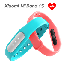 in stock !Xiaomi Mi Band 1S Heart Rate Sensor Smart Wristband Miband Bracelet For Android 4.4 iOS 7.0 Passometer Fitness Tracker