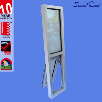 aluminium bottom hung window and fixed window