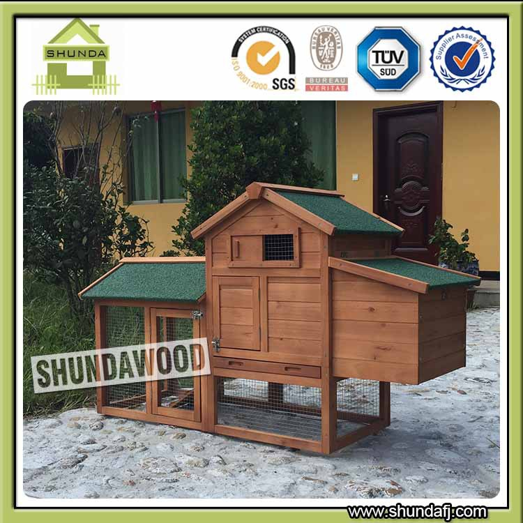 SDC09 Good quality cheap wood egg laying easy clean chicken coops with Run for sale
