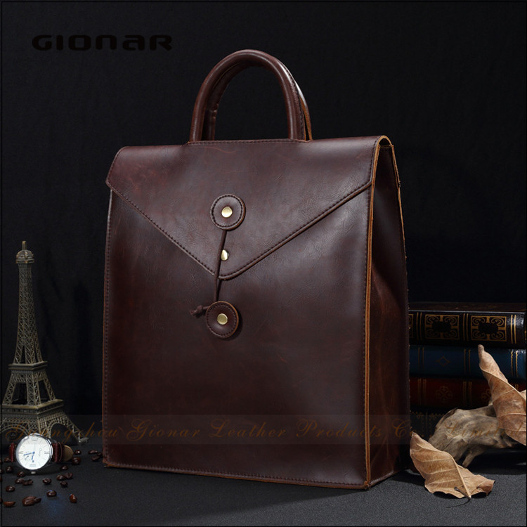Manufacturer Promotional Business Men Vintage Backpack Leather Laptop <strong>Bag</strong>