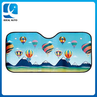 Fire balloon digital printing front car window sunshade