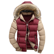 2016 new men's cotton casual men's winter coat thickening wholesale