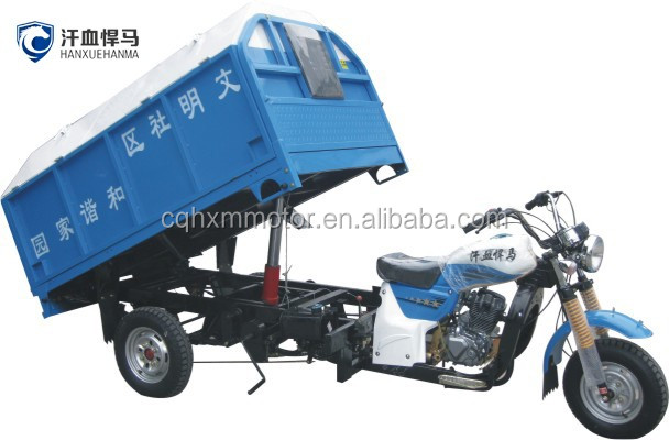 New Loncin engine electric garbage tricycle