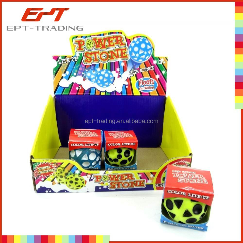 2015 New item kids tpr mini led flashing bouncing ball