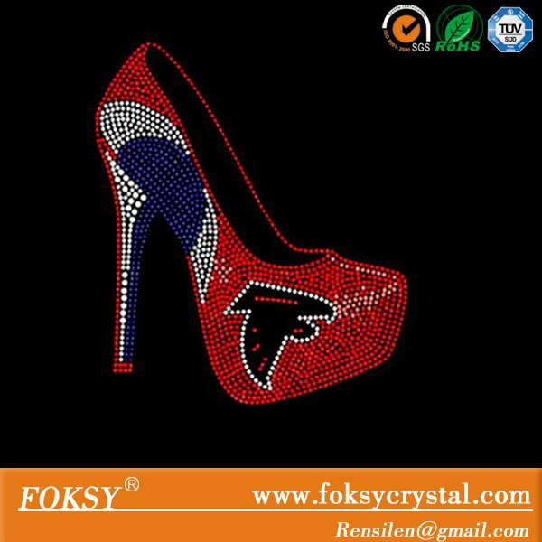garment high heel rhinestone transfer falcons