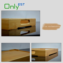 High quality multi-function bamboo ware large wooden breakfast tea serving tray