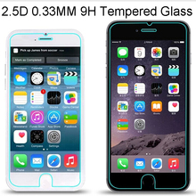 factory wholesale 0.33mm 9h 2.5d clear tempered glass screen protector for iphone 4 4s