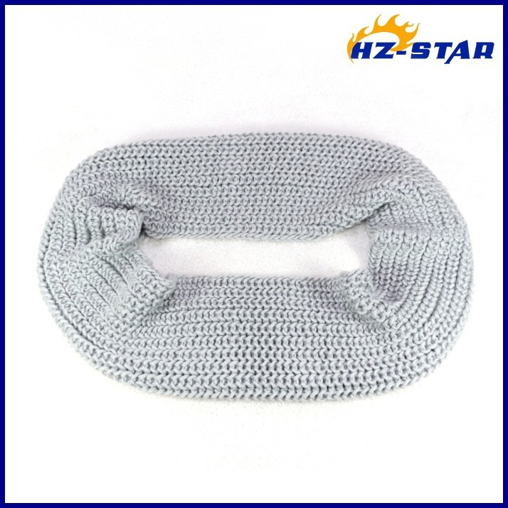 HZW-13752013 comfortable knit fashion infinity cheap polyester best-selling cashmere hand knit women uniform scarf