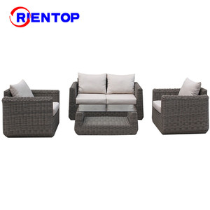 luxury Waterproof Rattan Outdoor Furniture Durable Lounge Living Room Sofa Set