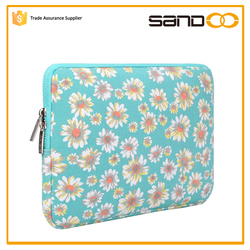 2016 quanzhou SANDOO wholesale canvas fabric 13.3 inch laptop sleeve bag