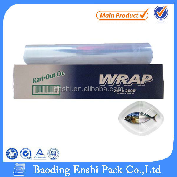 Hot film lldpe transparent stretch film cling wrap, household product household food grade cling wrap