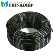 Pe Material Irrigation Garden Hose Irrigation Black Poly Soft Pipe with Double Blue Line