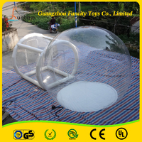 CE standard inflatable transparent mobile bubble tent room for sale