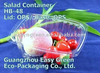 Transparent food plastic container HB-48