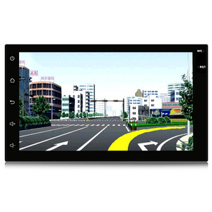1080P 7 Inch Android Car Stereo Video Player GPS Navigation with Built in Wi-Fi BT AM/FM/RDS
