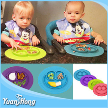 one piece silicone mini custom baby food Tray plate kids table placemat