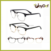 metal half round frame reading Glasses half Plastic Reading Glasses clean lens fashion reading eyeglasses
