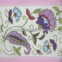 cotton fabric reactive flower printed fabric for garment