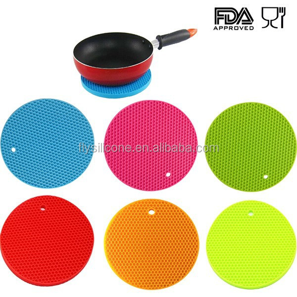Non-Slip Heat Resistant Silicone Pot Holder/Table Mat/Silicone Trivet