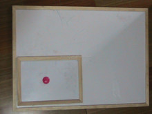 Magentic dry eraser whiteboard with wood frame