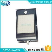 Plastic garden solar wall light with motion sensor control 2835SMD