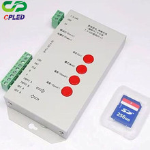 DC5~24V T-1000S RGB Controller WS2801 WS2811 WS2812B LPD6803 led Pixels T1000S Controller with SD Card