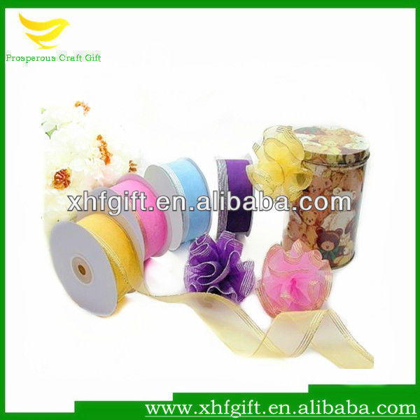 Metallic Edge Organza Ribbon for Decoration