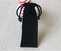 2016 fancy black velvet gift bags pouch,pen drawstring pouch