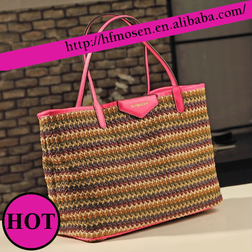 2013 summer grass woven bag new fashion in Europe and single shoulder bag S11