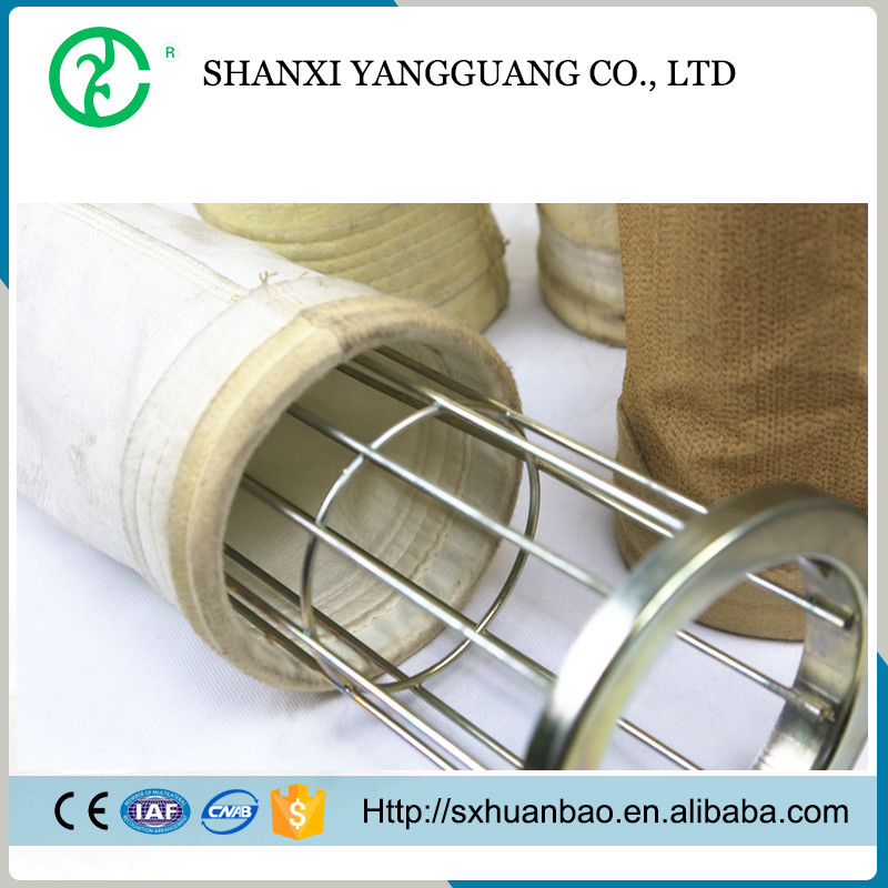 Polyester industrial air pocket dust filter for dust collector